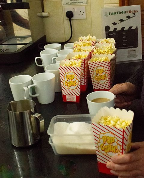 Freshly made popcorn at Fairfield Flicks Bromsgrove Cinema